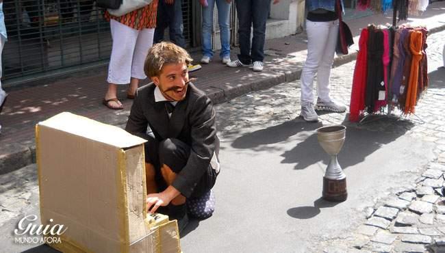 Artistas na feira de San Telmo