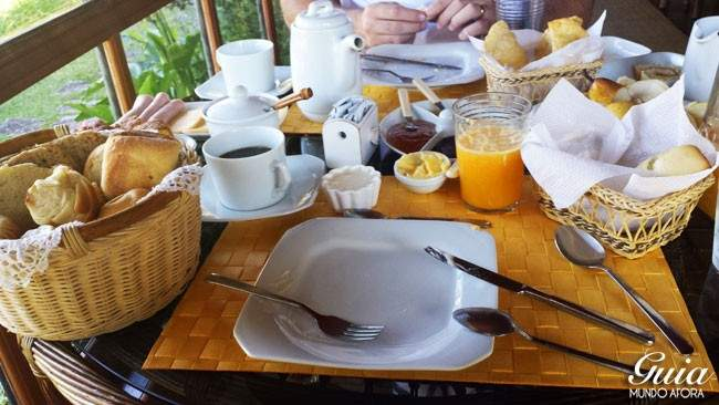 Café da manhã Casa da Colina