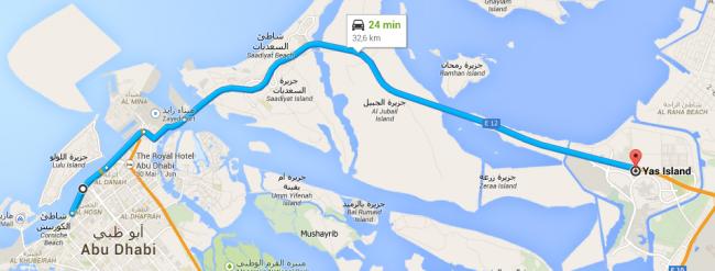 mapa-yas-marina-650x247 Yas Marina: andando em um carro de Fórmula 1 em Abu Dhabi