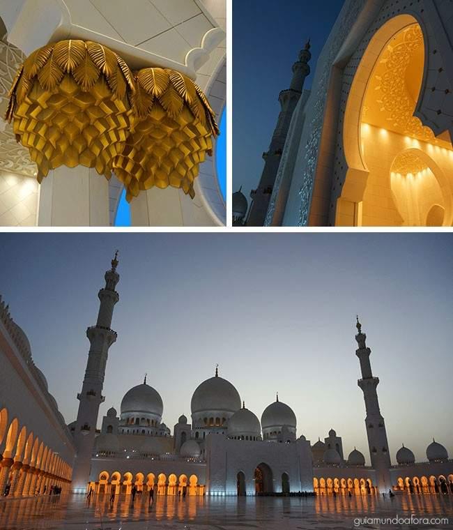 Mesquita de Abu Dhabi detalhes