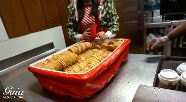 Cookies da festa de natal da Disney
