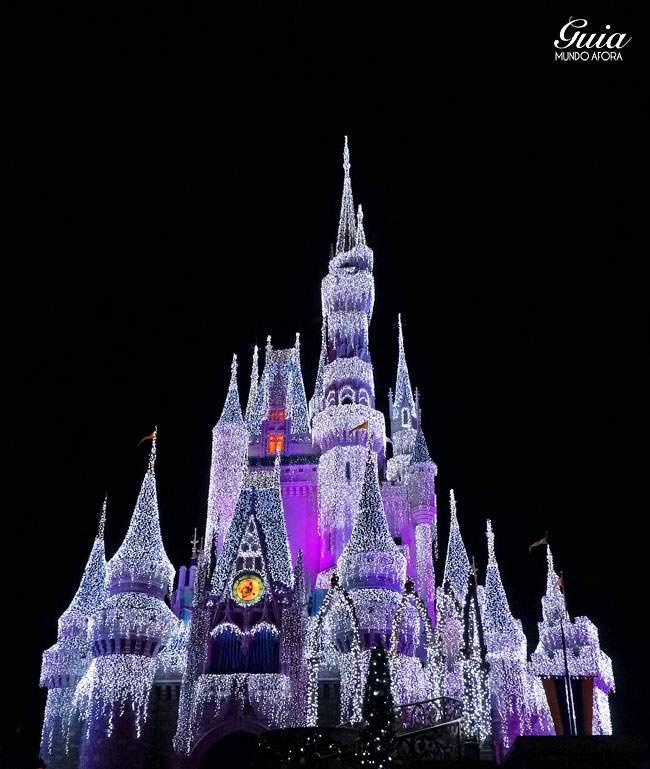Resultado do castelo congelado pela Elsa.