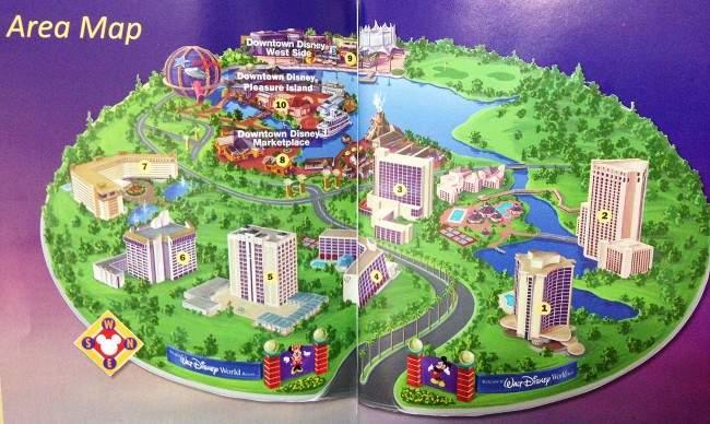 Mapa dos hoteis mais baratos disney