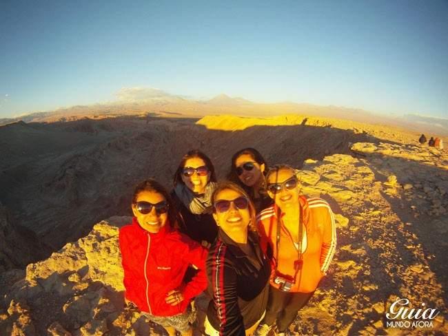 Por do sol no Valle de la Muerte Atacama Chile