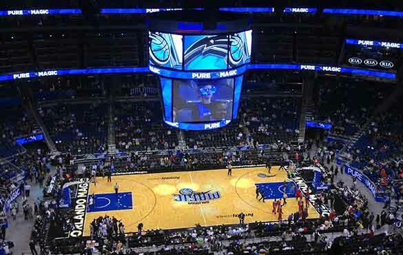 Jogo de basquete em Orlando ou Miami