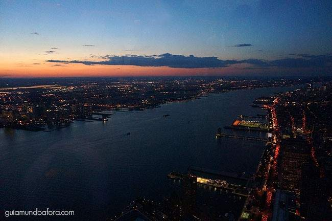 Por do sol One Trade Center