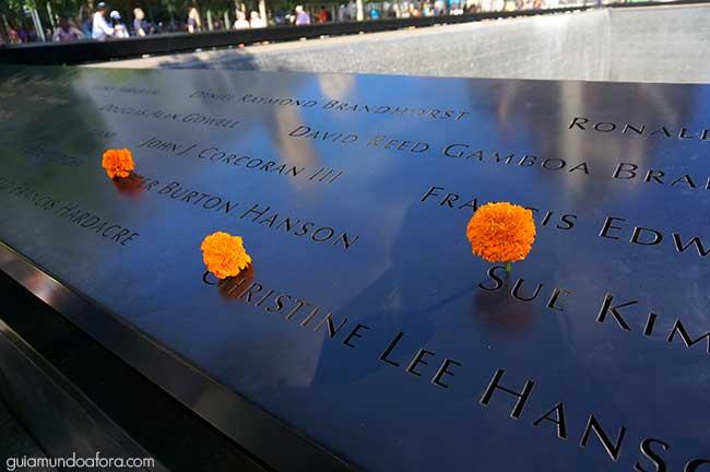 homenagem às vitimas de 11 de Setembro