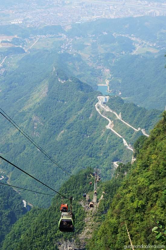 cable-car-zhangjiajie Zhangjiajie: um dos lugares mais SENSACIONAIS da China!