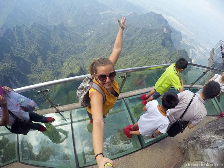 glass-floor Zhangjiajie: um dos lugares mais SENSACIONAIS da China!
