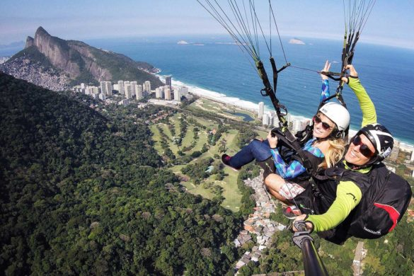 Voo de parapente no Rio de Janeiro: Pedra Bonita
