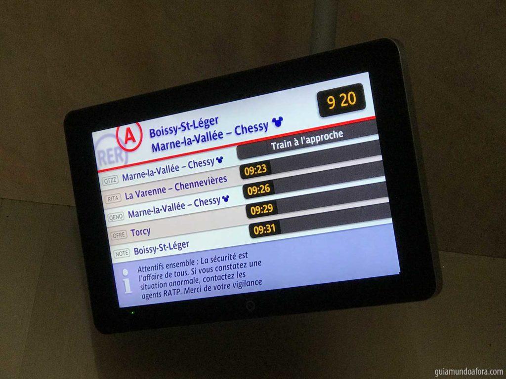 trem para chegar na Disneyland Paris