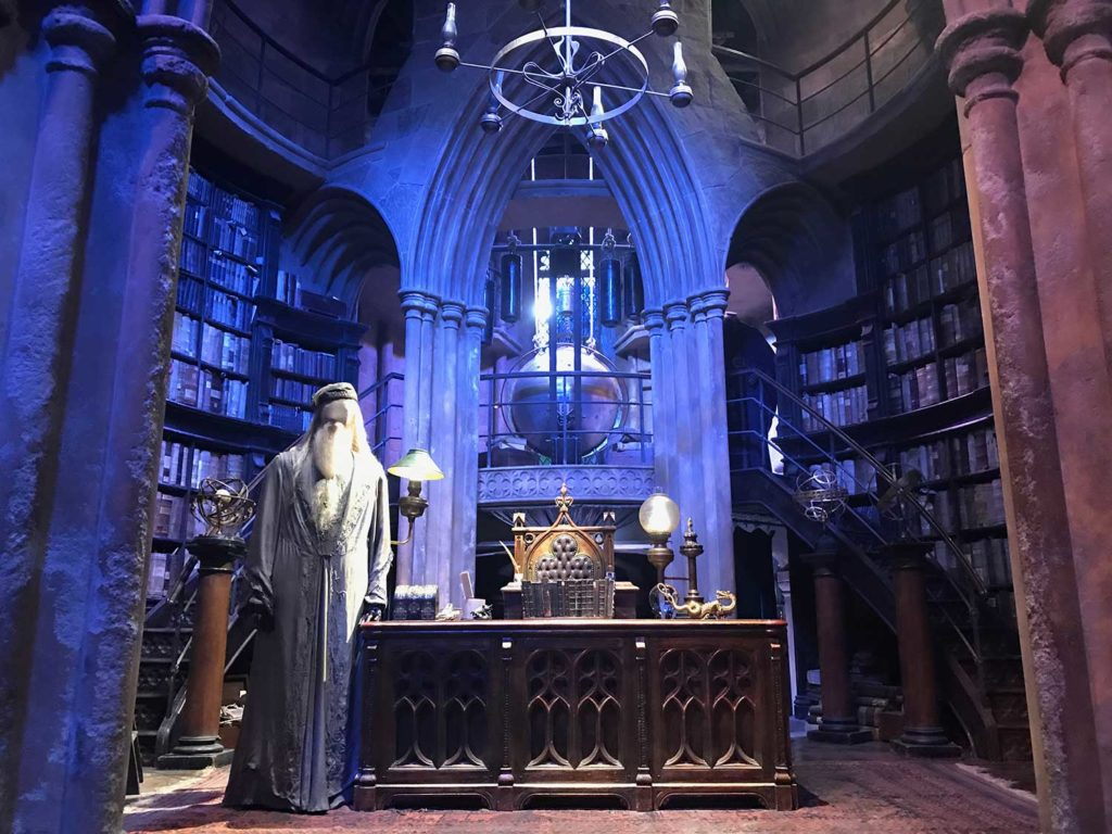 Sala do Dumbledore Studios Harry Potter