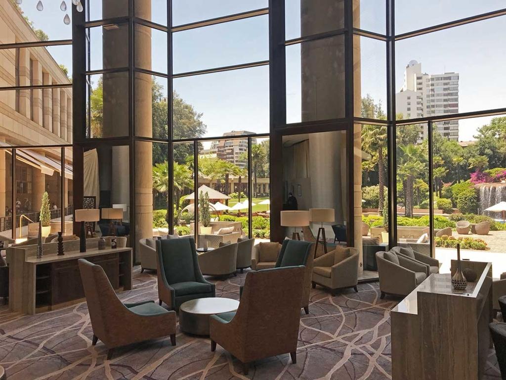 Lobby do mandarin Oriental Santiago