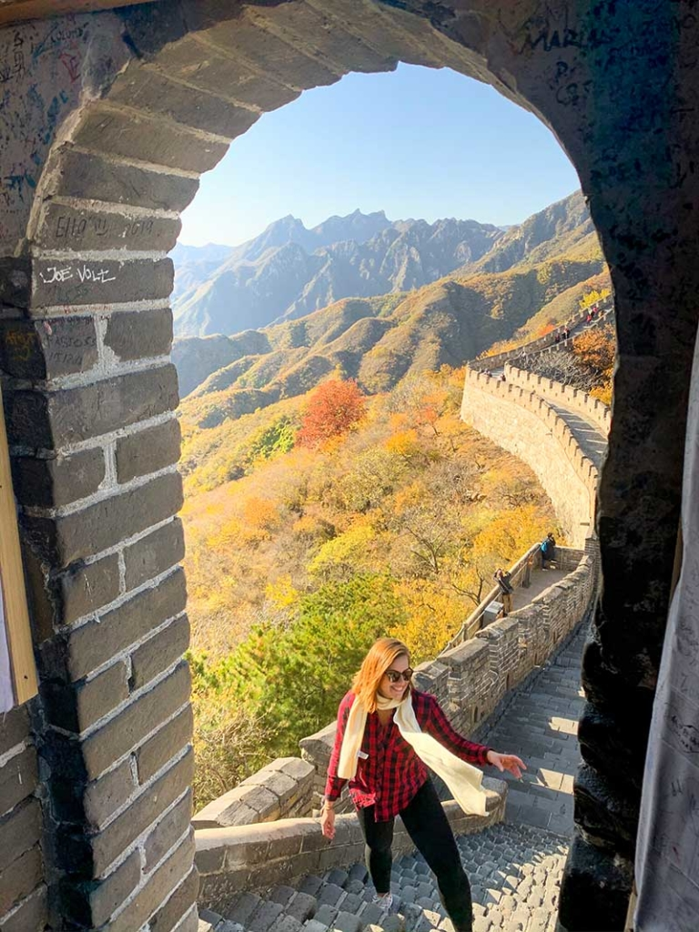 outono na Muralha da China