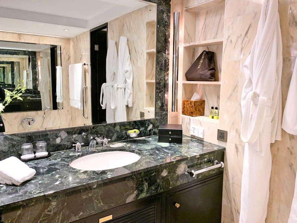 banheiro hotel Intercontinental Hong Kong