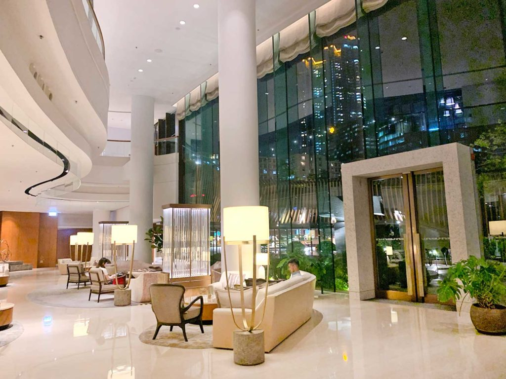 lobby Kerry Hotel Hong Kong