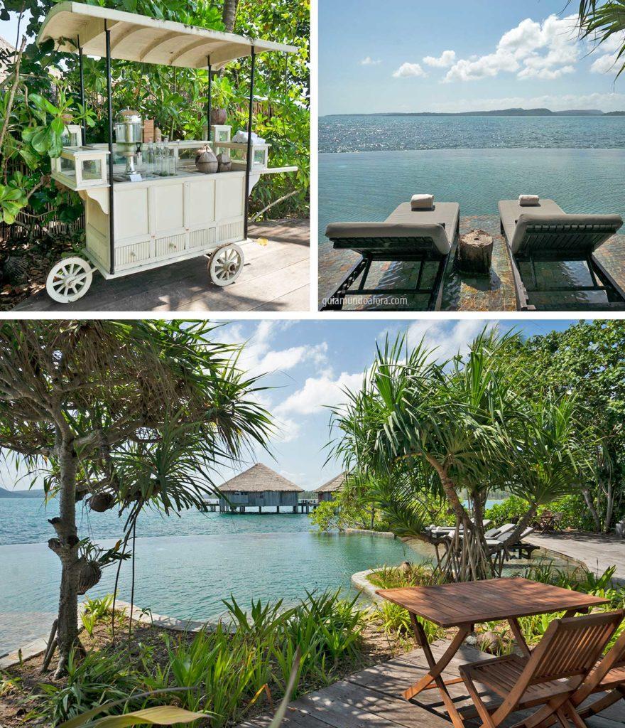 área da piscina Song Saa Private Island