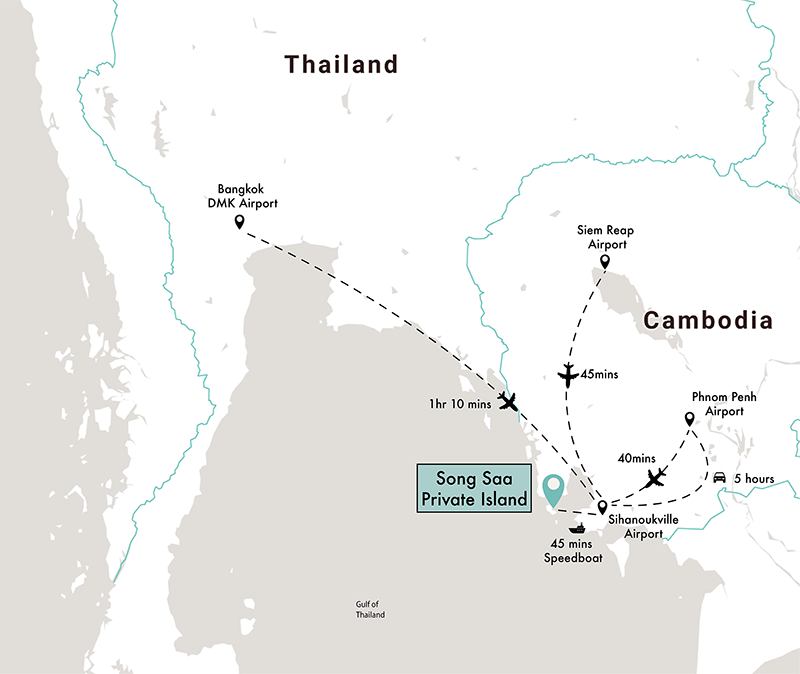 mapa Song Saa